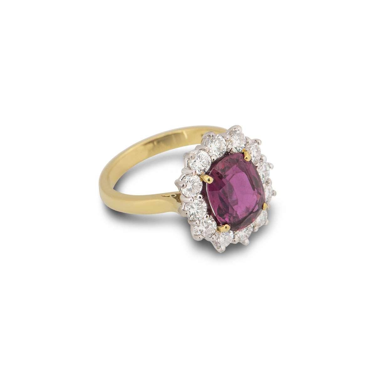 Yellow Gold Diamond & Ruby Ring